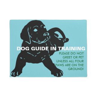 Dog Guide In Training Doormat - Custom Text
