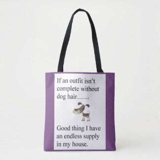 Dog Hair and Paw Power Tote Bag