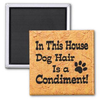 Dog Hair Condiment Refrigerator Magnets
