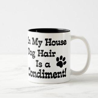 Dog Hair Condiment Coffee Mugs