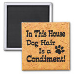 Dog Hair Condiment Refrigerator Magnets