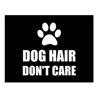 Dog Hair Dont Care Postcard