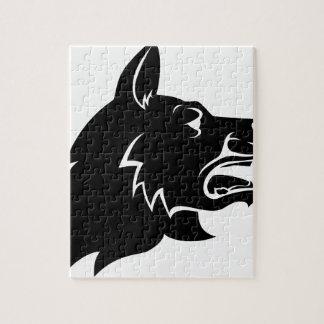 Dog Head Icon Puzzle