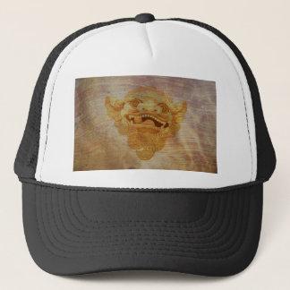 Dog head on a wooden board 9.1.3 trucker hat