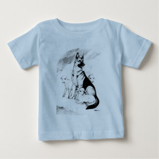 Dog Heaven, the Master's Flock Baby T-Shirt