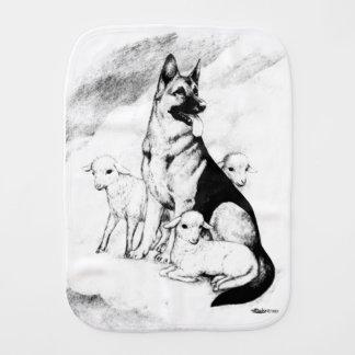 Dog Heaven, the Master's Flock Burp Cloth