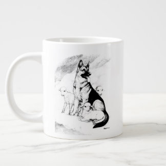 Dog Heaven, the Master's Flock Large Coffee Mug