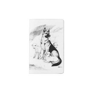 Dog Heaven, the Master's Flock Pocket Moleskine Notebook