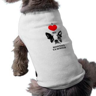 "Dog herdsman ""I love my Boston Terrier "" Shirt"