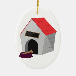 Dog House Ceramic Ornament