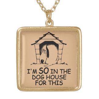 DOG HOUSE custom color necklace