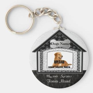 Dog House Pet Memorial Basic Round Button Key Ring