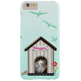 Dog House Photo Name Flowers Birds Blue template Barely There iPhone 6 Plus Case