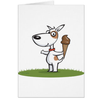 Dog Ice Cream Card