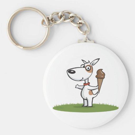Dog Ice Cream Key Chain