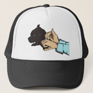 Dog Image Created With Hand Art -T Shirts, Apparel Cap