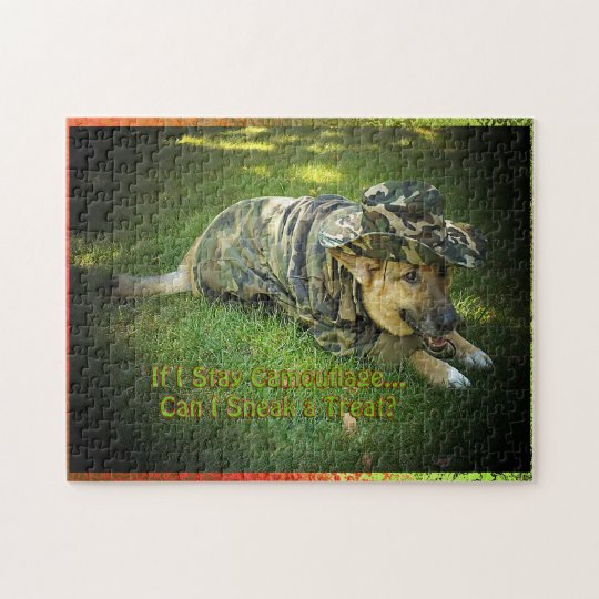 Dog in Camouflage Puzzle