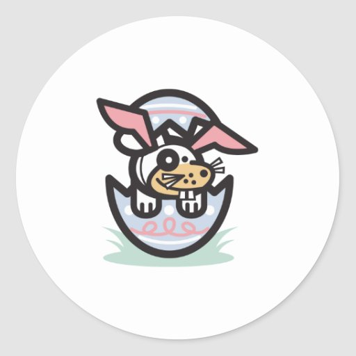 Dog in Easter egg Stickers