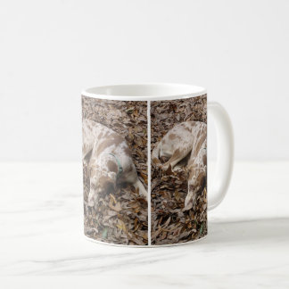 Dog In Leaves Mug