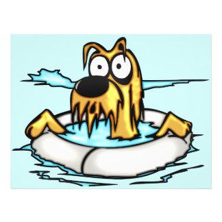 Dog In Lifesaver Float 21.5 Cm X 28 Cm Flyer