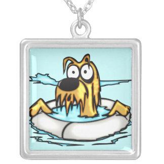Dog In Lifesaver Float Pendants