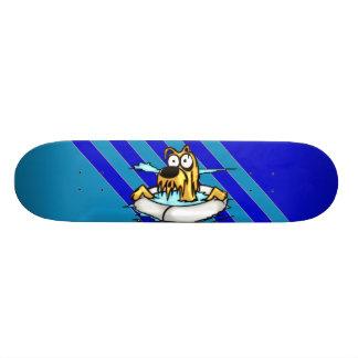 Dog In Lifesaver Float 21.3 Cm Mini Skateboard Deck