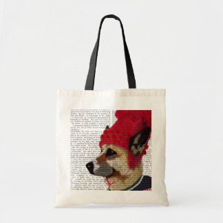 Dog in Ski Sweater 2 Budget Tote Bag