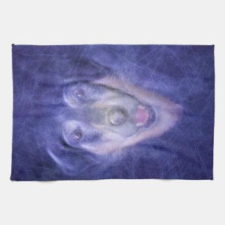 Dog in Smoke Tea Towel