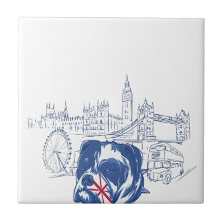 dog in the united kingdom ceramic tile