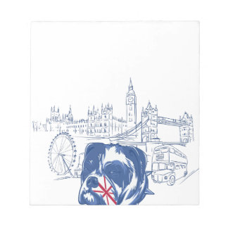dog in the united kingdom notepad