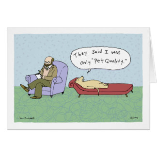 Dog in Therapy Cartoon Card
