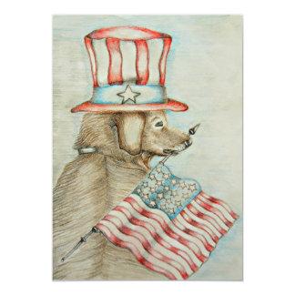 dog 13 cm x 18 cm invitation card