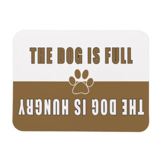 Dog is Full-Hungry Refigerator Rectangular Photo Magnet