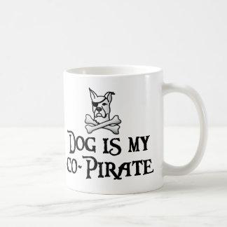 Dog is my co-pirate coffee mug