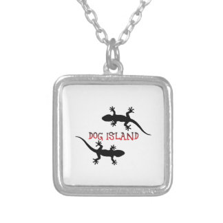 Dog Island Florida. Silver Plated Necklace