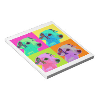 Dog, Jack Russell Terrier. Popart, Warhol - animal Notepad