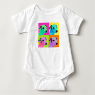 Dog, Jack Russels Terrier puppy. Popart Design Baby Bodysuit