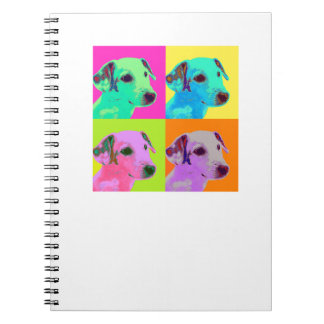 Dog, Jack Russels Terrier puppy. Popart Design Notebooks