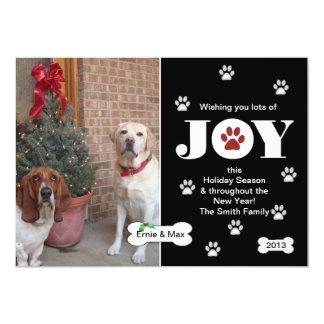 Dog Joy Holiday Photo Card Greeting