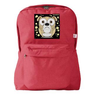 Dog(Light Brown) Backpack, Red Backpack