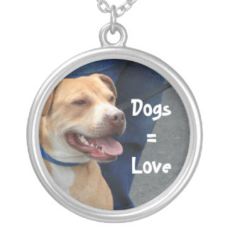 Dog = Love Pit Bull Necklace