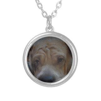Dog Love Round Pendant Necklace