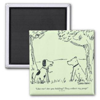 Dog Love Square Magnet