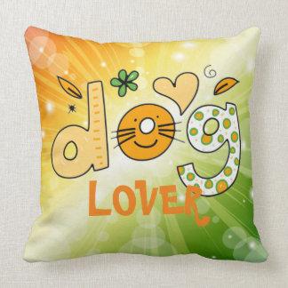 Dog Lover Cartoon Cuteness Throw Pillow