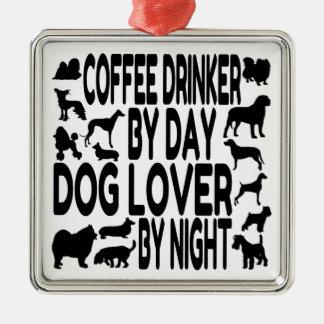 Dog Lover Coffee Drinker Metal Ornament