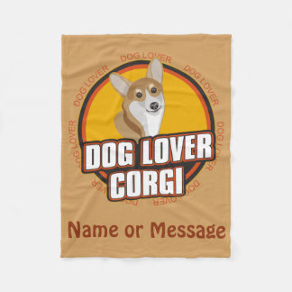 Dog Lover Corgi Blanket Customize Name / Message