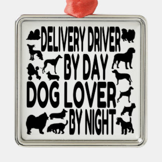 Dog Lover Delivery Driver Metal Ornament