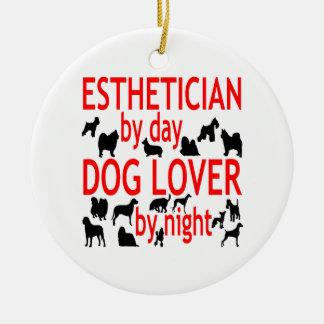 Dog Lover Esthetician in Red Ceramic Ornament