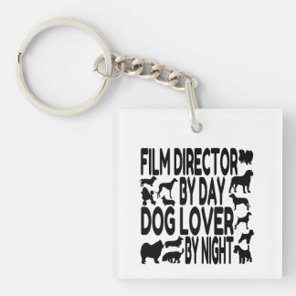 Dog Lover Film Director Double-Sided Square Acrylic Key Ring