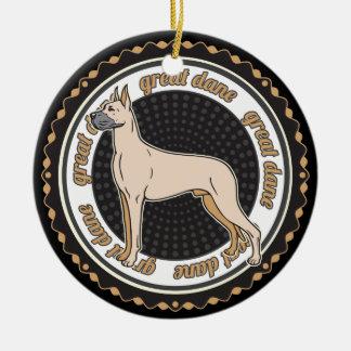 Dog Lover Great Dane Dog Ceramic Ornament